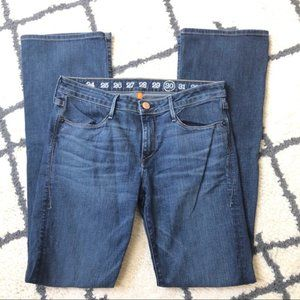 Earnest Sewn medium wash bootcut jeans